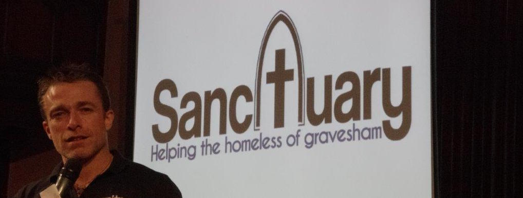 Pastor Tom Griffiths - founder of Sanctuary - outlines his vision to help the homeless at a recent meeting